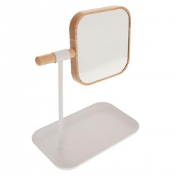 Miroir amovible avec support NATURÉO - Blanc