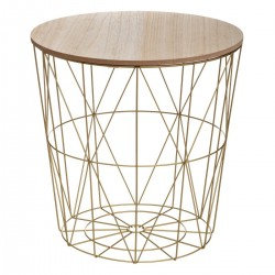 Table à café métallique KUMI - Doré