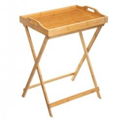 Table plateau en bambou - Beige marron