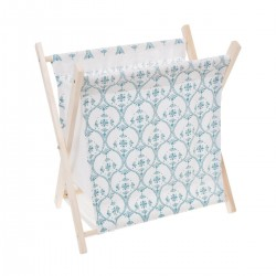 Porte revue en tissu ATELIER D'HIVER - Bleu