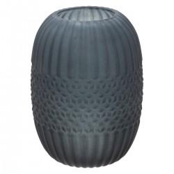 Vase en verre H19,5cm FROSTED, ATELIER D'HIVER - Gris