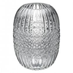 Vase en verre H19,5cm FROSTED, ATELIER D'HIVER - Transparent