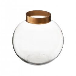 Vase boule en verre H15cm THE COLONIAL FACTORY - Transparent