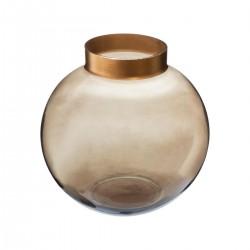 Vase boule en verre H15cm THE COLONIAL FACTORY - Kaki