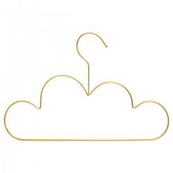 Lot de 3 cintres nuages en métal BOHÈME - Doré