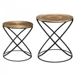 Lot de 2 tables d'appoint ETHNIK - Cuivre