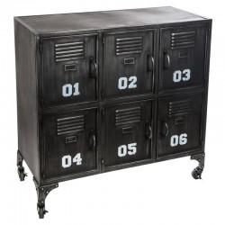 Meuble à 6 casiers SEVIN - Noir
