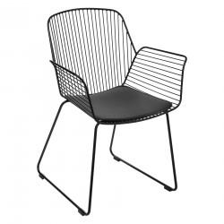 Chaise filaire en métal ALBY - Noir