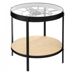 Table à café pendule MECA - Noir
