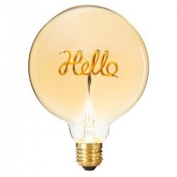 Ampoule déco HELLO H17cm - Ambre
