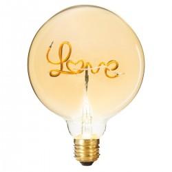 Ampoule déco LOVE D12,5cm - Ambre