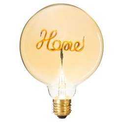 Ampoule déco HOME D12,5cm - Ambre