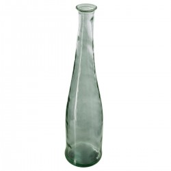 Vase long en verre recyclé H80cm - Kaki