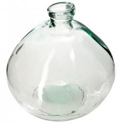 Vase rond en verre recyclé D45cm - Transparent