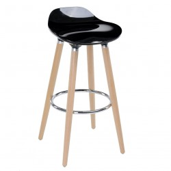 Tabouret de bar scandinave FILEL - Noir