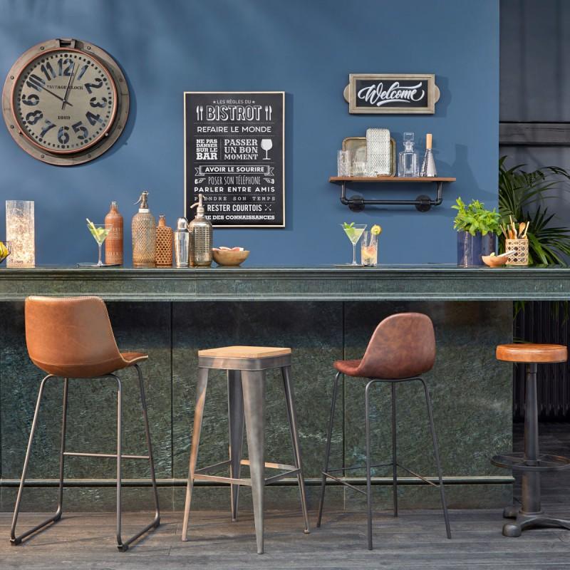 Grand Modele De Tabouret De Bar En Metal Joris Gris Veo Shop