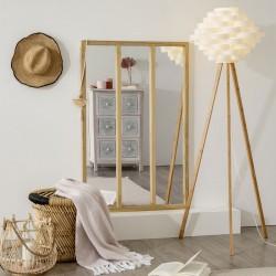 Miroir en bois 3 colonnes ATELIER 116X76cm - Naturel