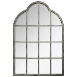 Miroir en métal 110X76cm ROMANCE - Gris clair