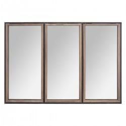 Miroir en bois et métal 74X54cm TINA - Marron