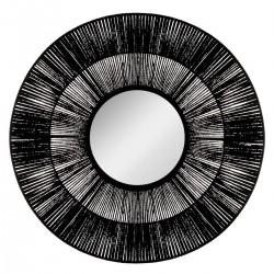Miroir corde D76cm ALLURE ETHNIQUE - Noir