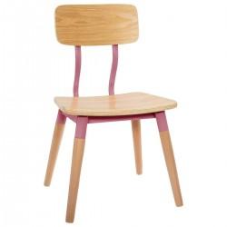 Chaise pour enfant RÉTRO - Rose