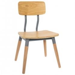Chaise pour enfant RÉTRO - Gris foncé