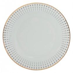 Assiette plate D27cm VENISIA - Blanc à bordure doré