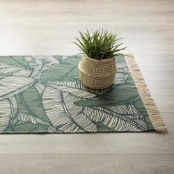 Tapis rectangle en coton 120X170cm JUNGLE - Vert
