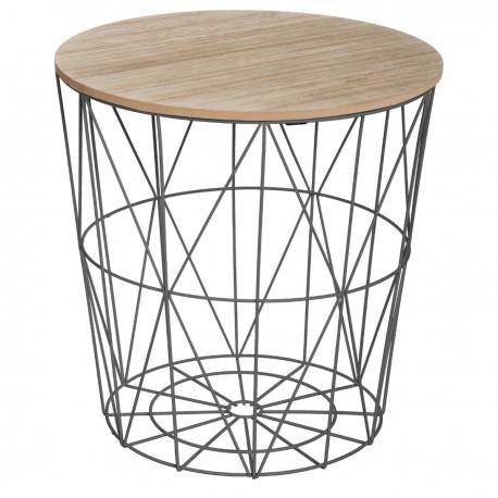 Table à café métallique KUMI - Noir