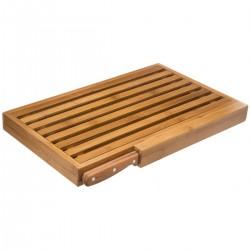 Planche à pain en bambou avec couteau