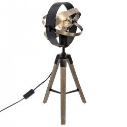 Lampe trépied H54cm FIBI - Noir doré