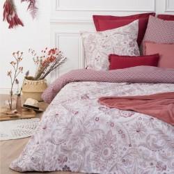 Parure de lit imprimé bandana 240X220cm - Rose