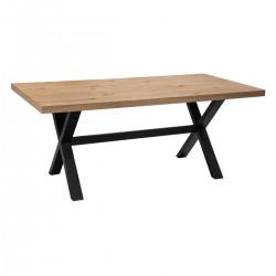 Table à dîner pieds croisés L180cm STEJA - Naturel