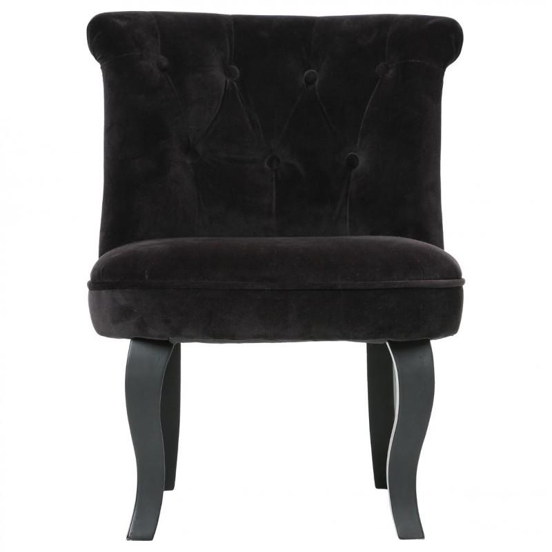 fauteuil en velours calixte noir veo shop. Black Bedroom Furniture Sets. Home Design Ideas