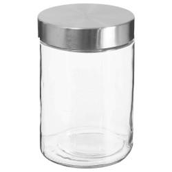 Bocal en verre et couvercle en inox 1,2L - Transparent