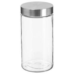 Bocal en verre et couvercle en inox 1,7L - Transparent