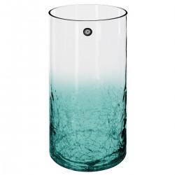 Vase cylindre craquelé à couleur H30cm - Vert