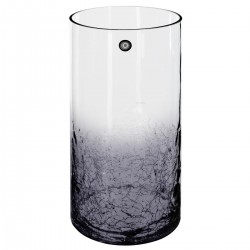 Vase cylindre craquelé à couleur H30cm - Gris