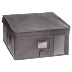 Boîte à rangement H15X30X30cm - Gris clair