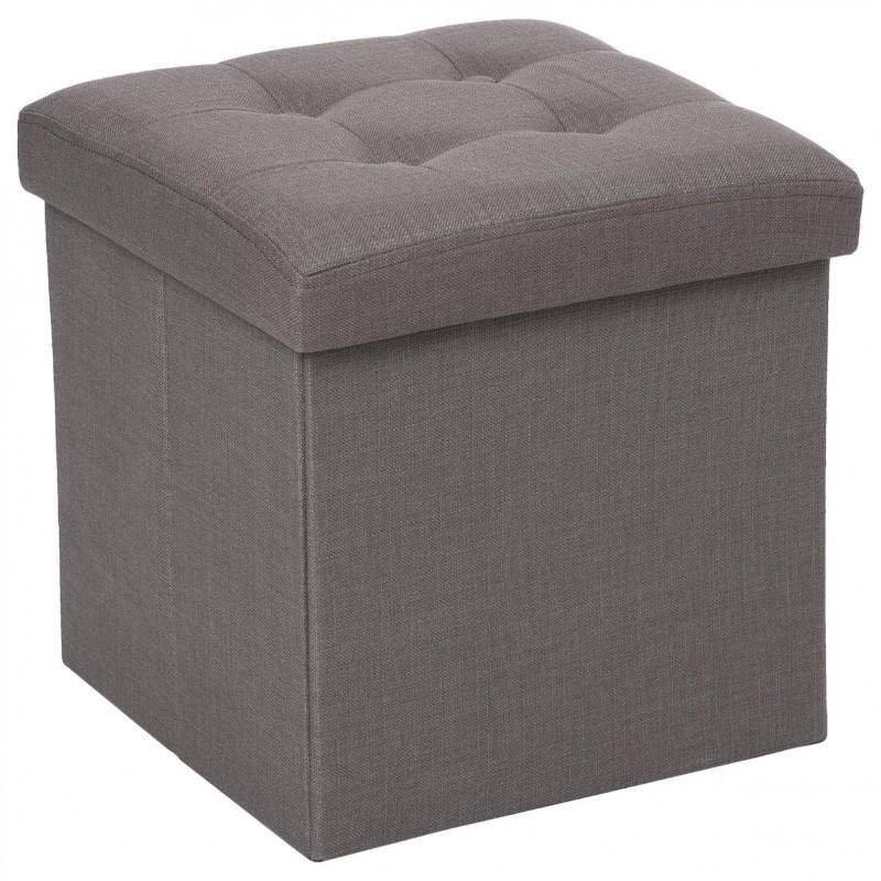 pouf coffre pliable lysandre gris veo shop. Black Bedroom Furniture Sets. Home Design Ideas