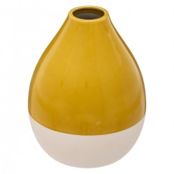 Vase bouteille H16cm ARCHI FÉMININ - Jaune