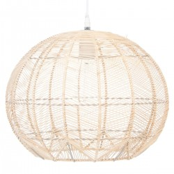 Suspension en rotin D38cm - Beige