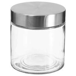 Bocal en verre et couvercle en inox 0,75L - Transparent