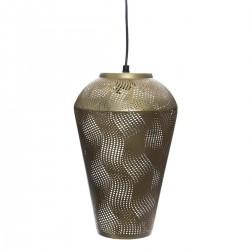 Suspension cône en métal H32cm CALIO - Doré