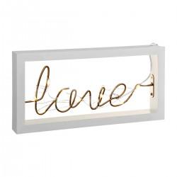 Décoration lumineuse à poser LOVE, COSY'NESS - Blanc