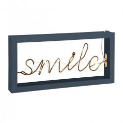 Décoration lumineuse à poser SMILE, COSY'NESS - Bleu