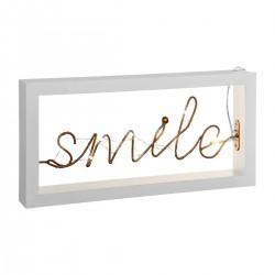 Décoration lumineuse à poser SMILE, COSY'NESS - Blanc