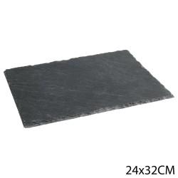 Assiette ardoise rectangle 24X32cm - Noir