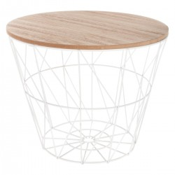 Table à café en métal petit modèle KUMI - Blanc