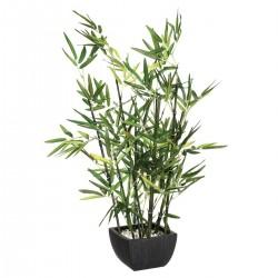Bambou artificiel en pot H70cm - Vert